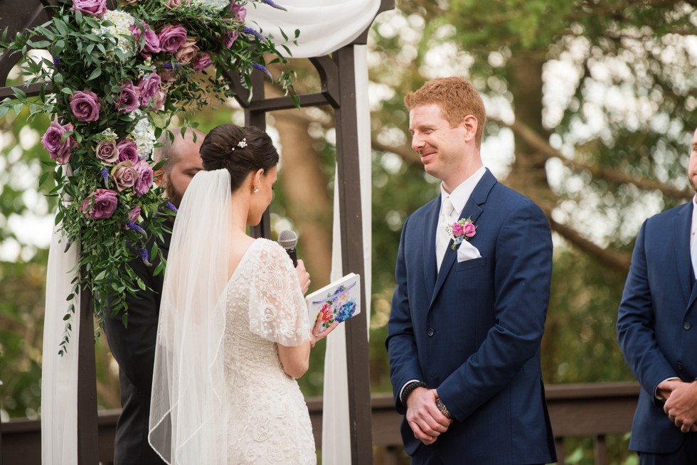 London Town Gardens outdoor wedding ceremony