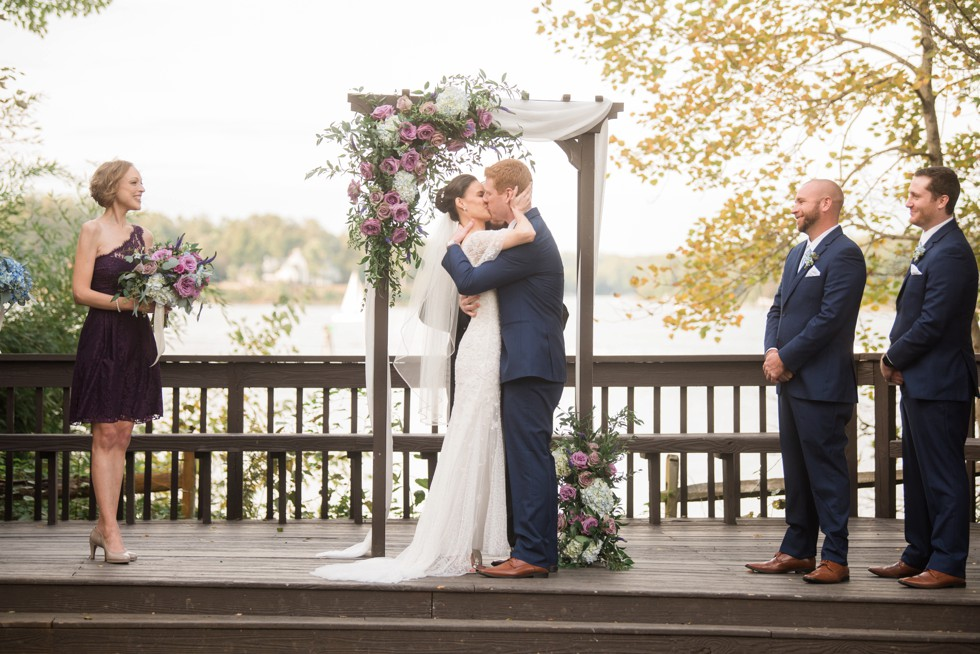 Waterfront Annapolis wedding ceremony