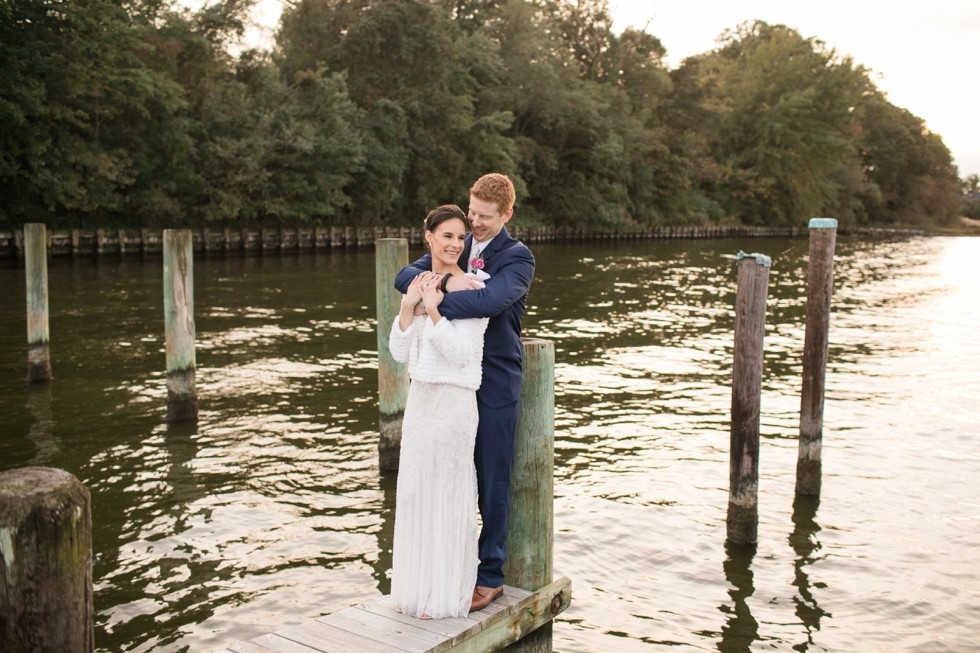 Waterfront London Town Gardens wedding