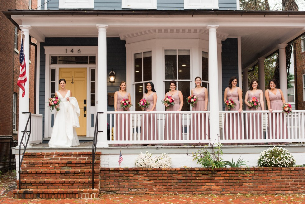 Wedding Party Getting ready in Annapolis