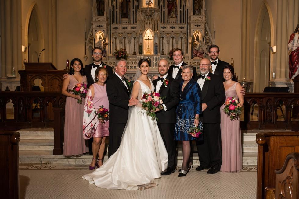St Mary's Annapolis wedding family photos