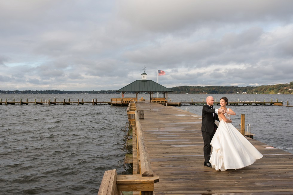 Sherwood Forest Clubhouse waterfront Wedding couple