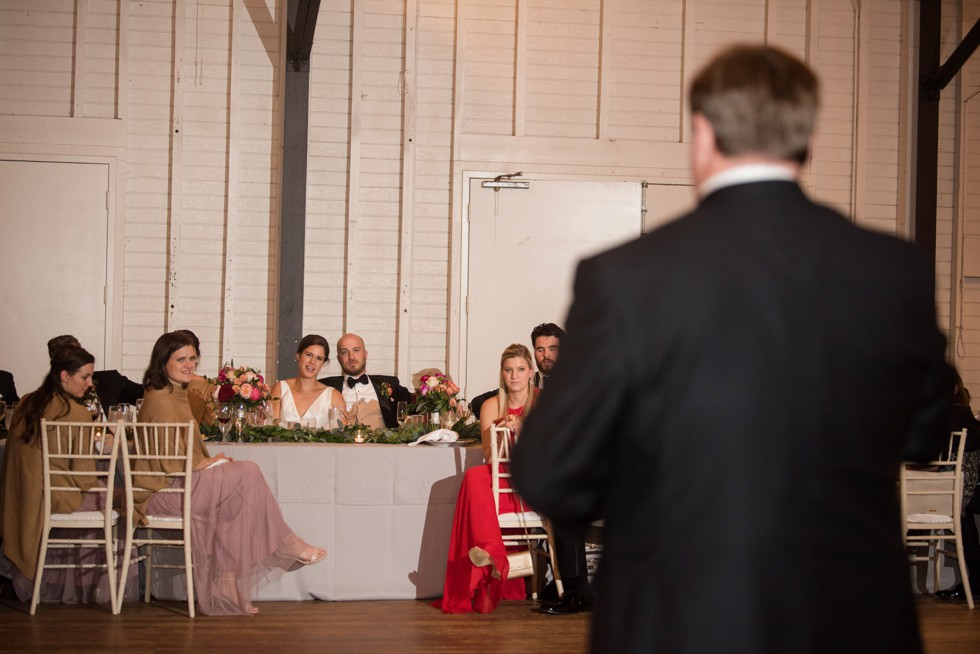 Annapolis Sherwood Forest wedding reception toasts