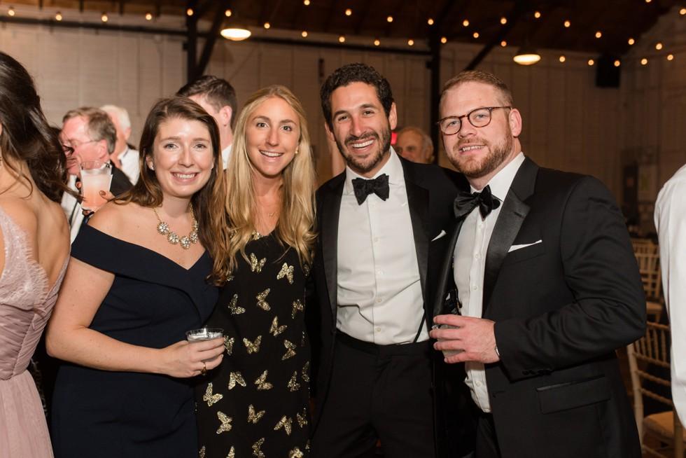Annapolis black tie wedding reception