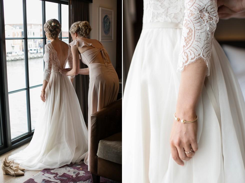 Sagamore Pendry Baltimore Bridal Suite