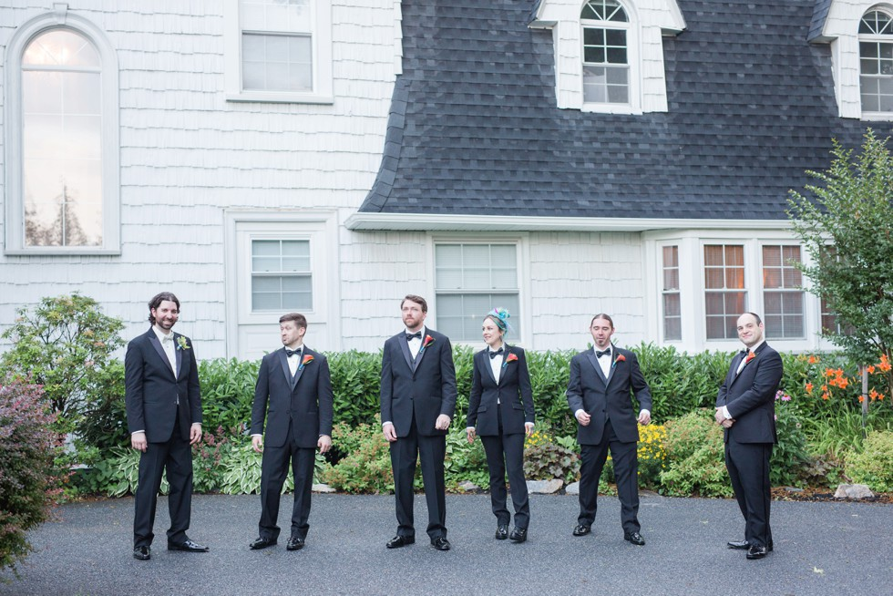 Catonsville groomsmen at Overhills Mansion - Associate Photographer Anna