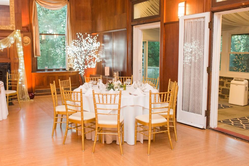 coral rose gold wedding decor