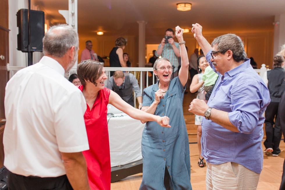 Overhills Mansion wedding reception dancing - Associate wedding photographer Anna