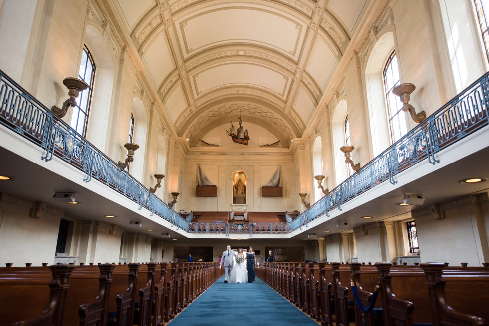 USNA Chapel bride and groom