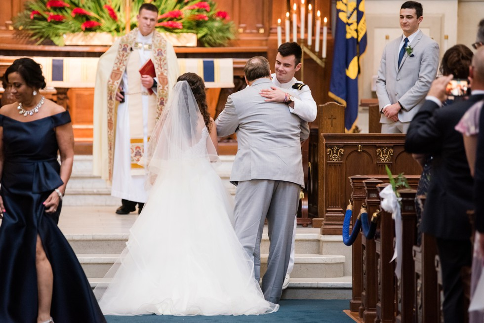 United States naval Academy Chapel Wedding ceremony
