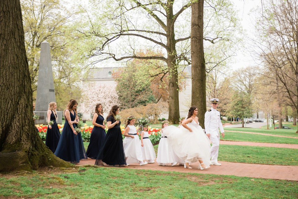 Radford Terrace spring tulips Annapolis wedding