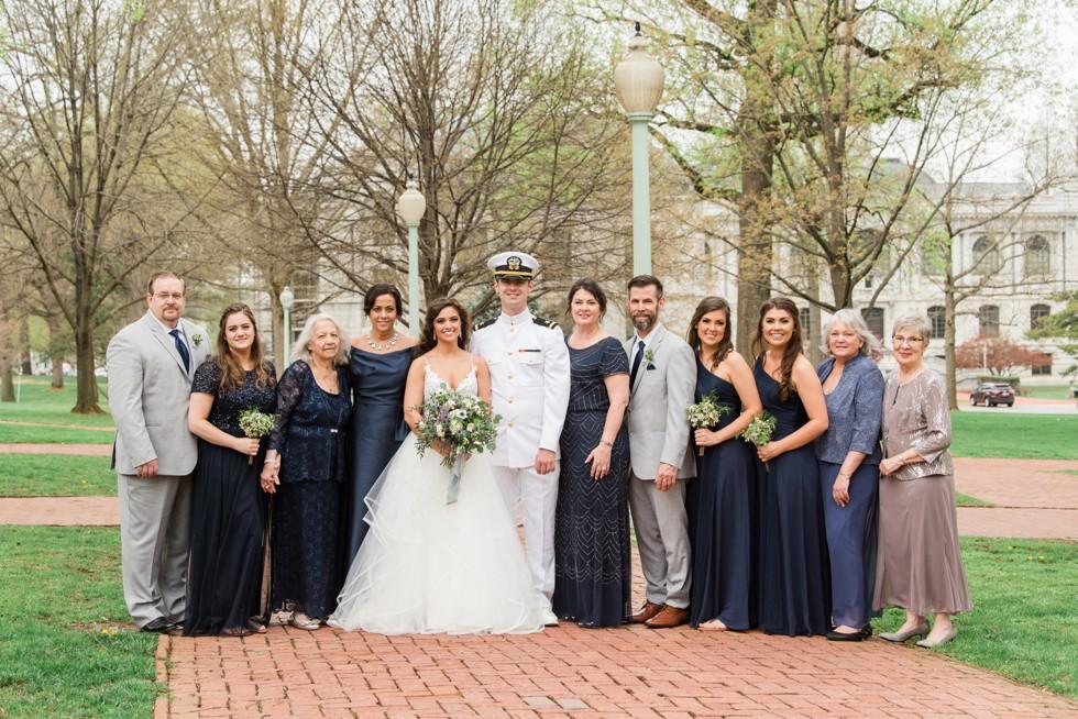 Radford Terrace Annapolis wedding family photos