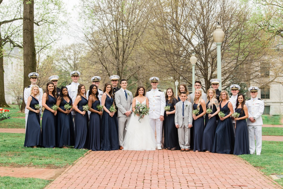 Radford Terrace Annapolis wedding party photos