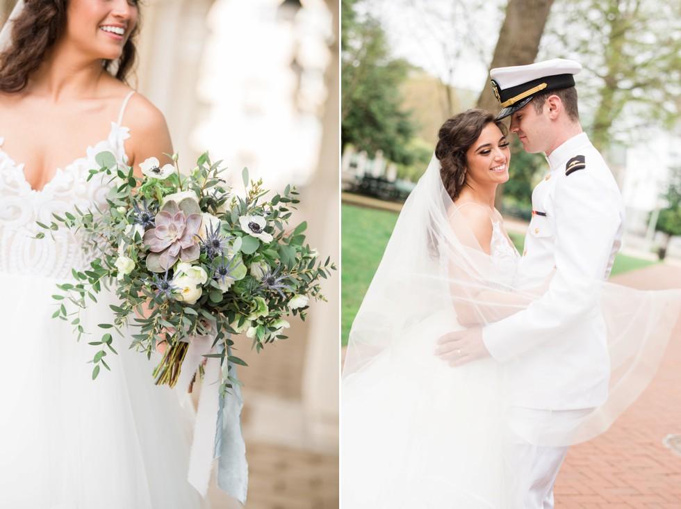 Floret + Vine Military wedding in Annapolis