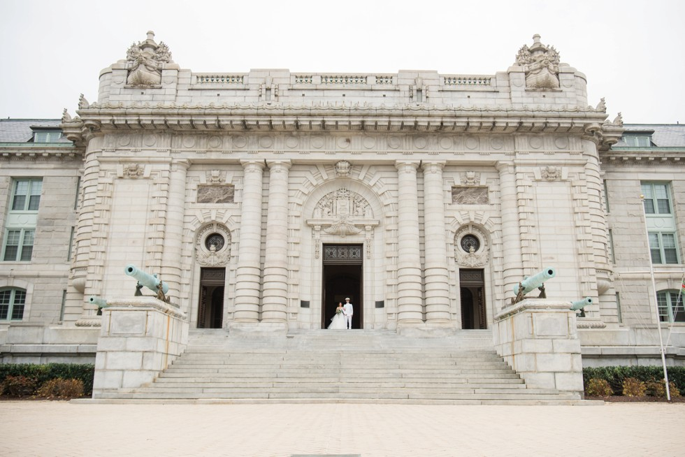 Bancroft Hall USNA wedding photo