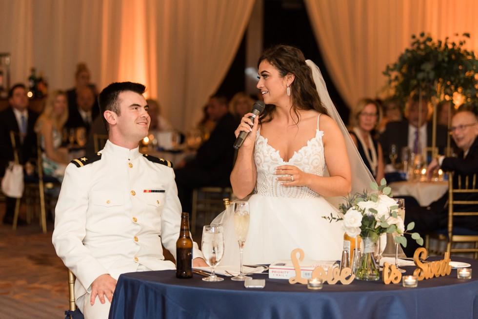 The Westin Annapolis wedding toast