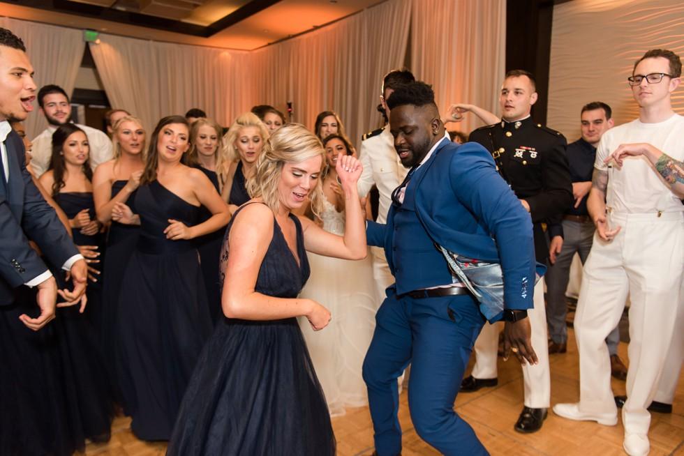 Westin Annapolis military wedding reception