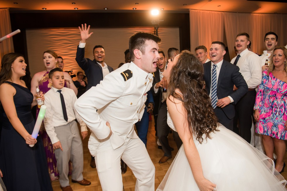 Military wedding Reception at the Westin Hotel