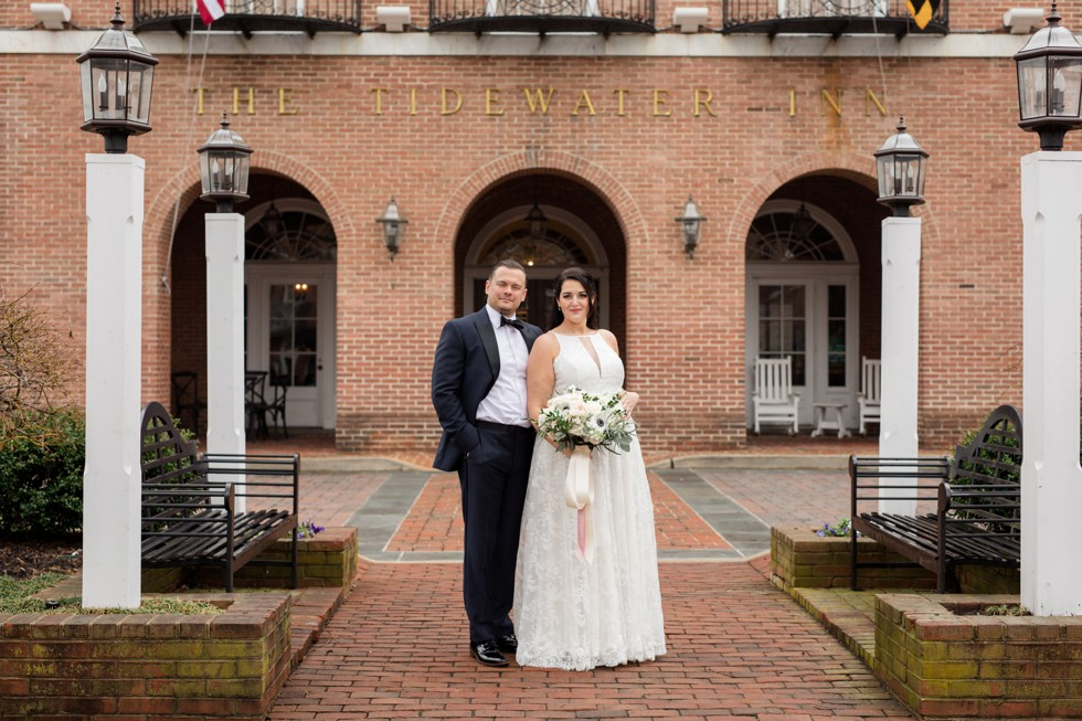 The Tidewater Inn Baltimore Wedding Couple portrait
