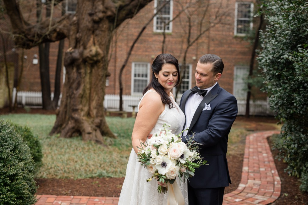 The Tidewater Inn Baltimore bride and groom portrait