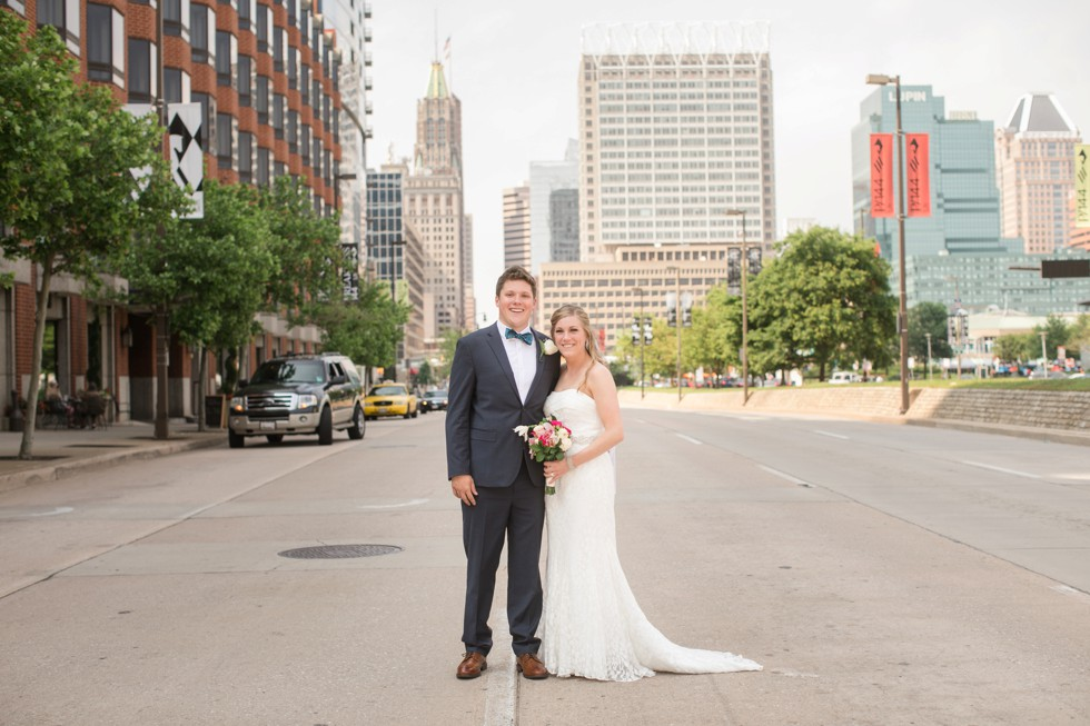 Bride in Groom in Baltimore