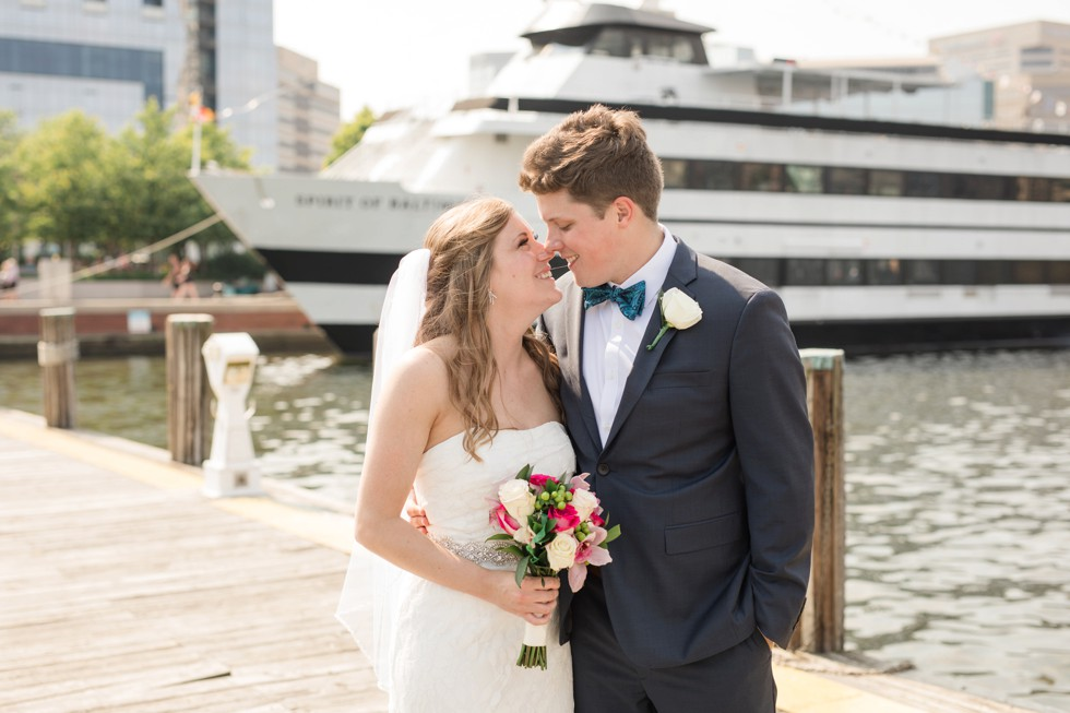 bride and groom at Baltimore Science Center