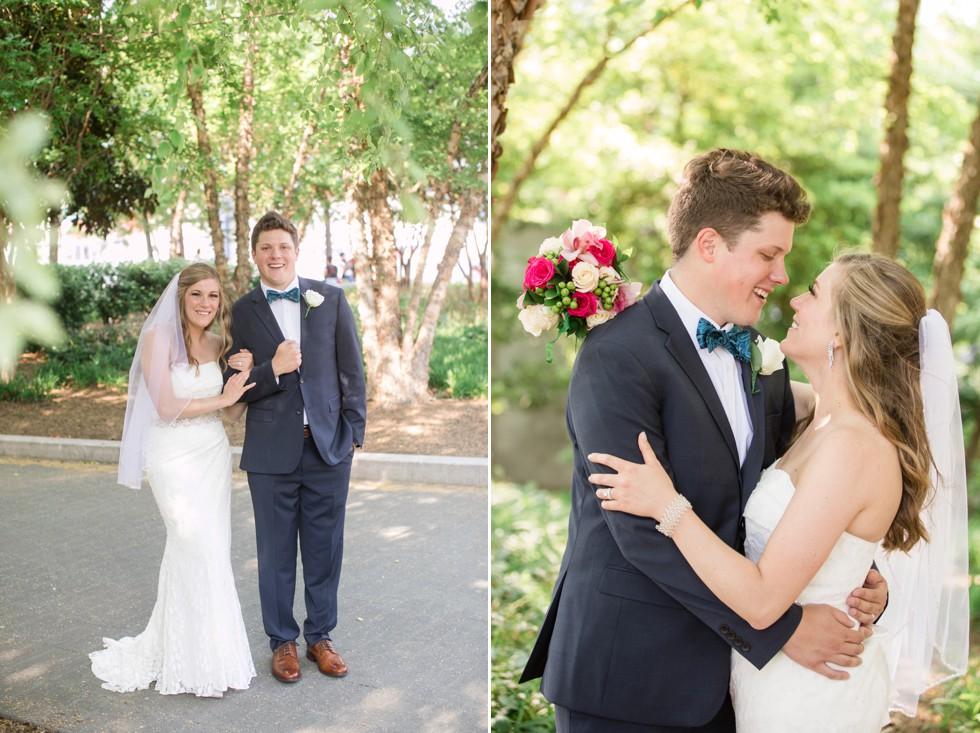 Baltimore Harbor Newlywed wedding photos
