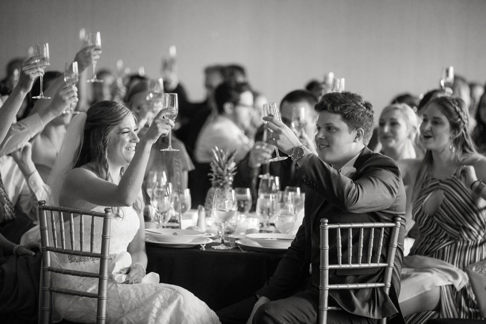 Royal Sonesta Harbor Court Baltimore wedding toasts