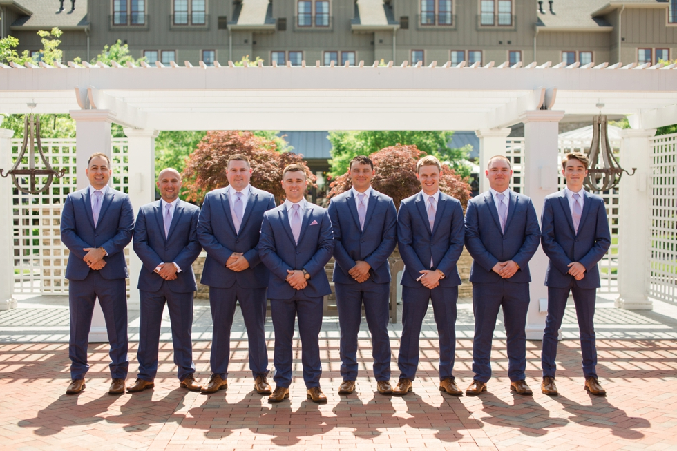 Groom and Groomsmen portraits at The Inn at the Chesapeake Bay Beach Club