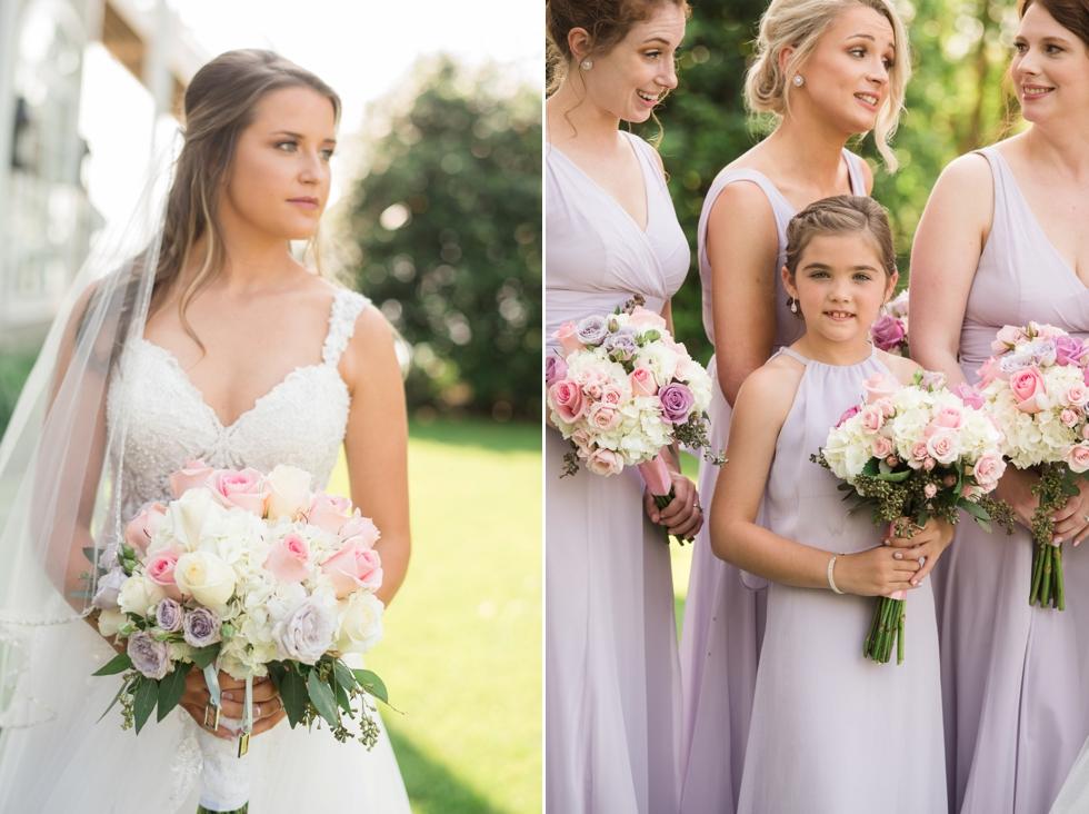 Blooms in Edgewater Maryland wedding