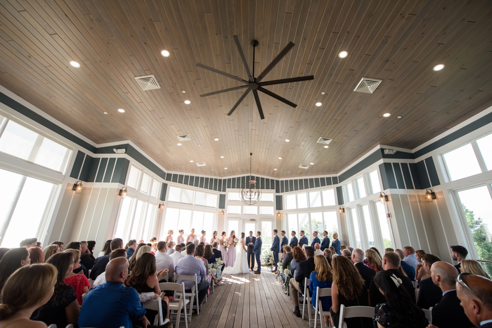 Sunset ballroom wedding Ceremony deck Chesapeake Bay Beach Club