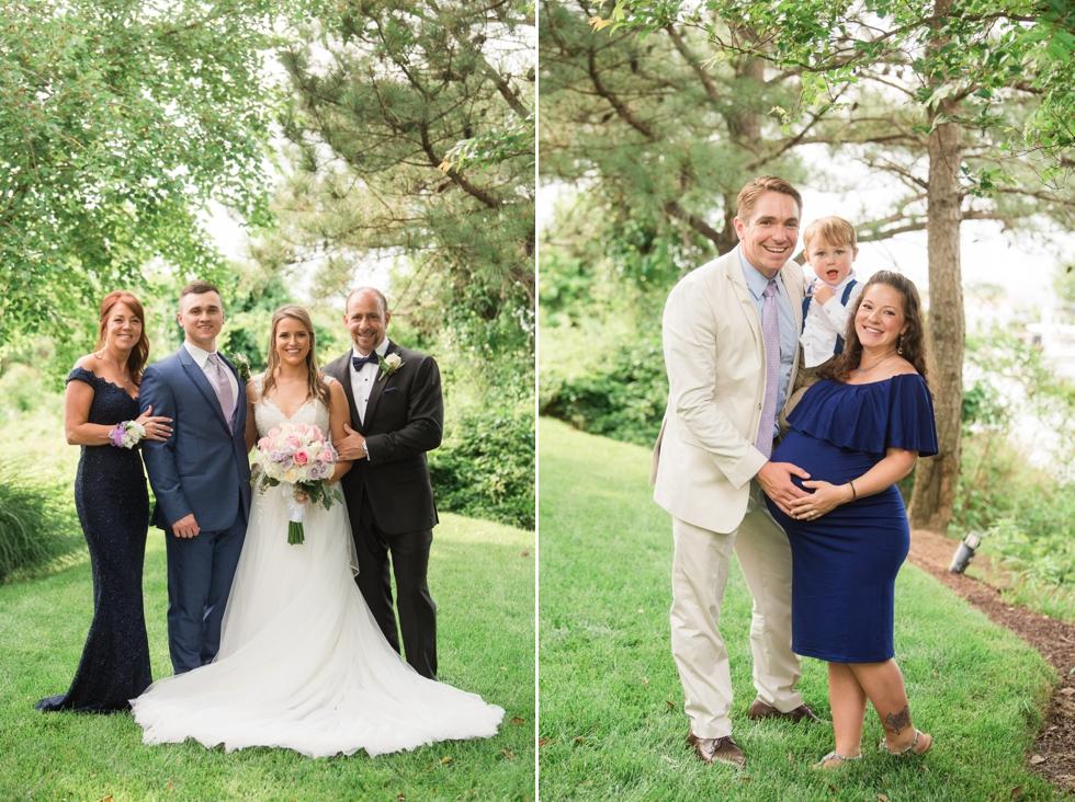 Sunset ballroom Chesapeake Bay Beach Club wedding family photos