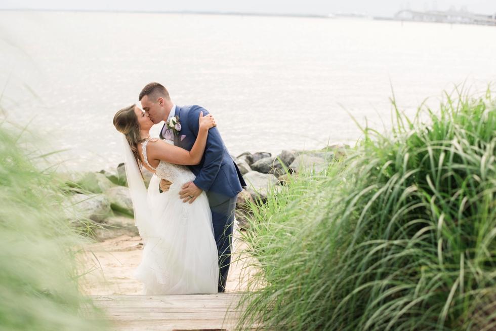 Sunset ballroom Chesapeake Bay Beach Club wedding couple