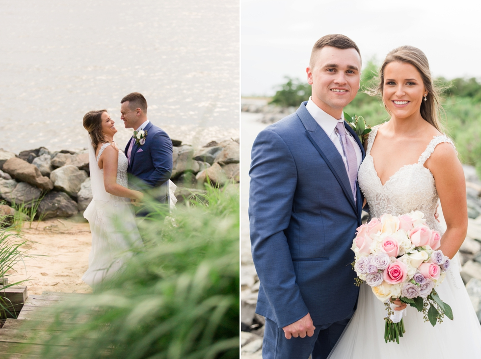 Chesapeake Bay Beach Club wedding couple