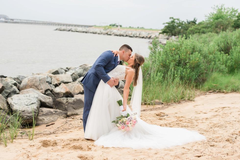 bride and groom Chesapeake Bay Beach Club