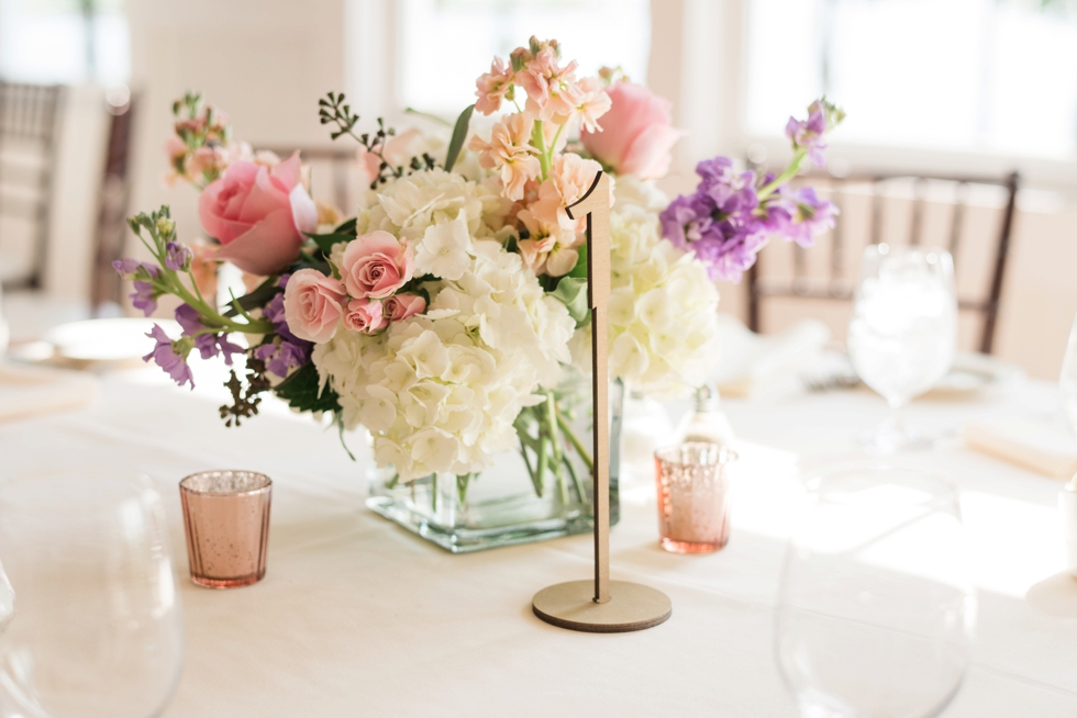 Blooms Florist wedding reception details