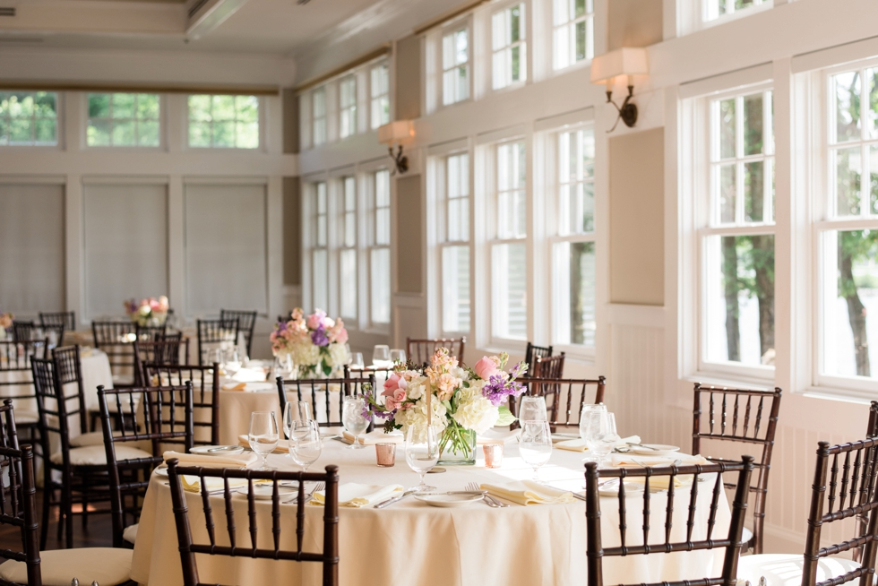 Chesapeake Bay Beach Club Sunset ballroom wedding reception details