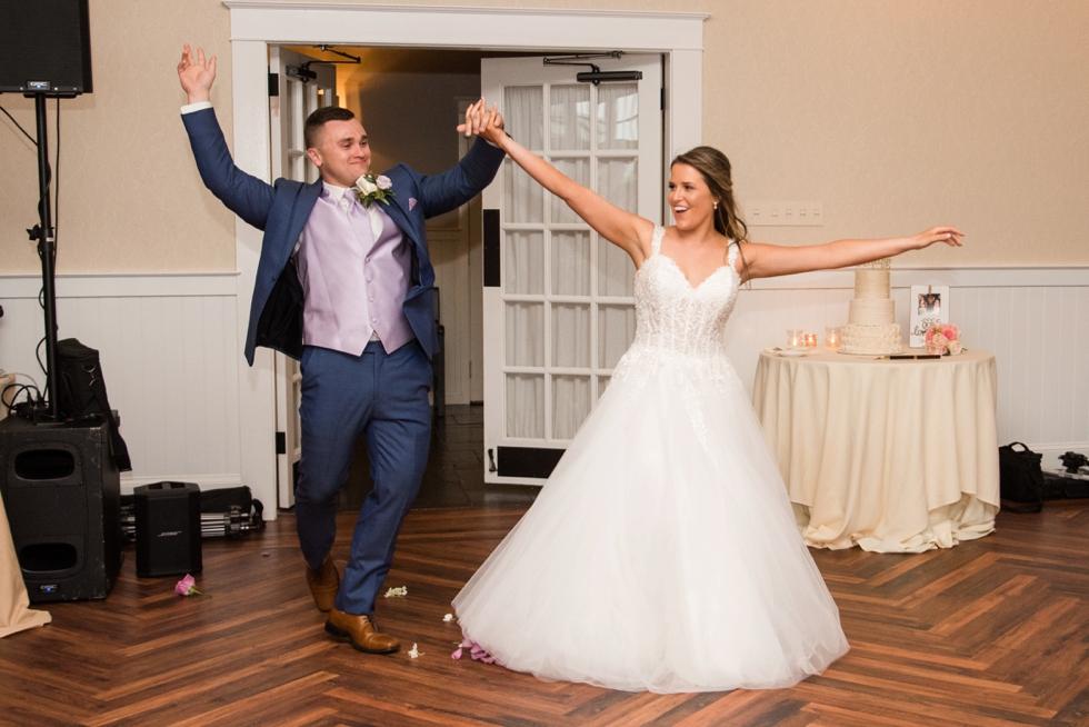 Chesapeake Bay Beach Club Sunset ballroom wedding introduction