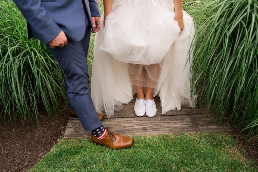 bride and groom Chesapeake Bay Beach Club sunset photos