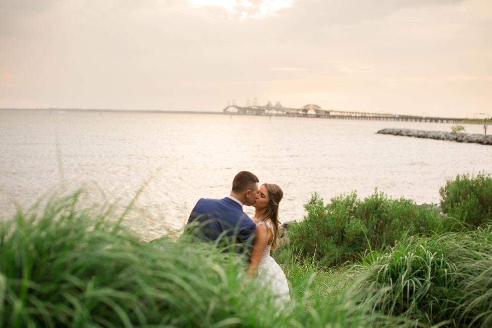 Chesapeake Bay wedding sunset photos