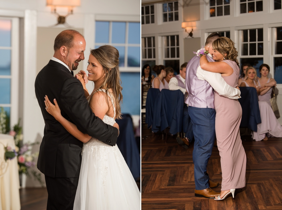 Chesapeake Bay wedding reception parent dances