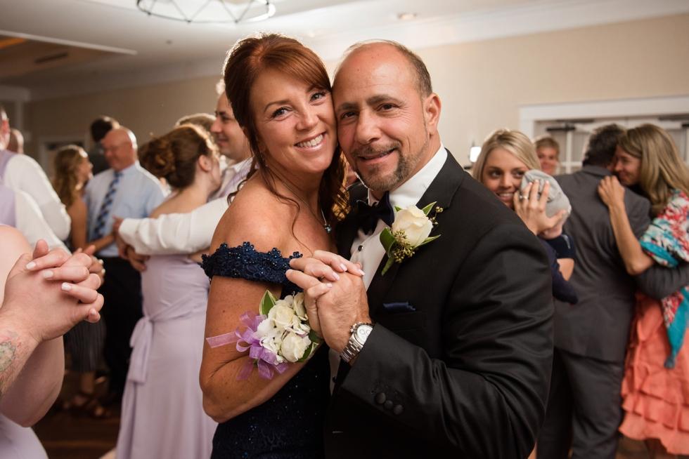 Chesapeake Bay wedding reception parent dances