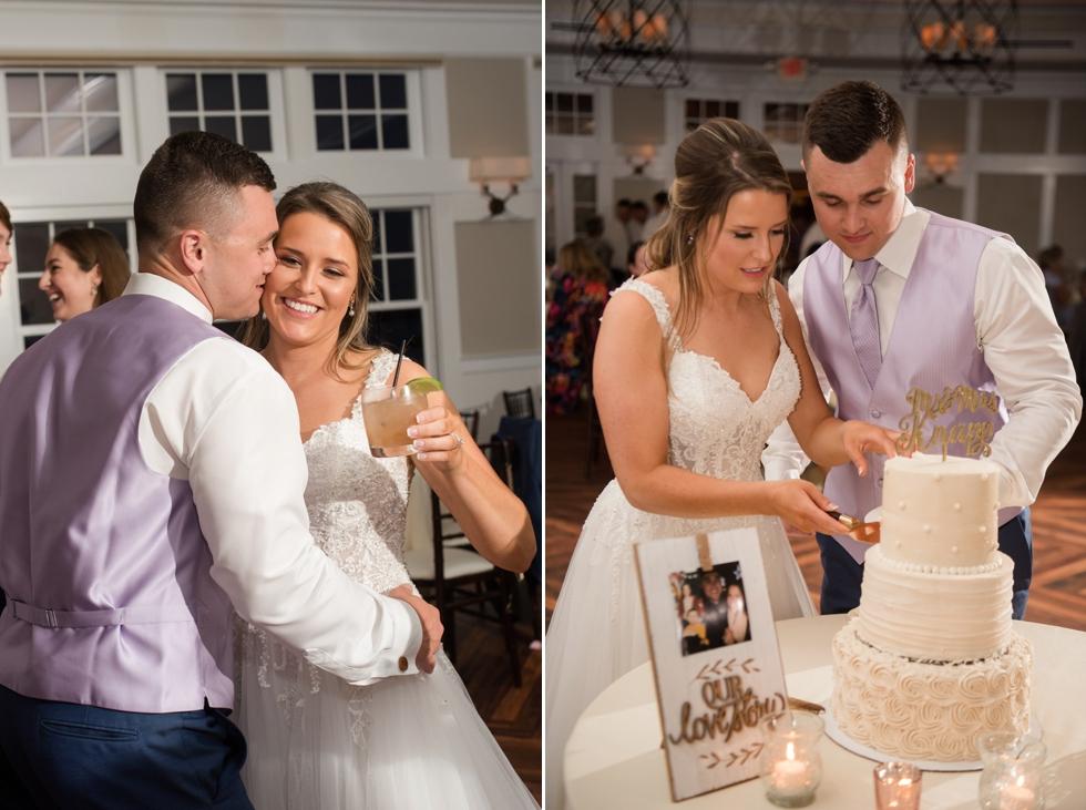 Chesapeake Bay Beach Club Sunset ballroom wedding Cakes by Krissy