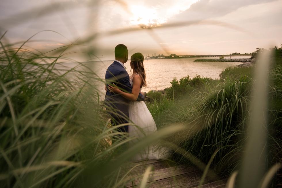 Chesapeake Bay Beach Club Sunset ballroom wedding sunset photos
