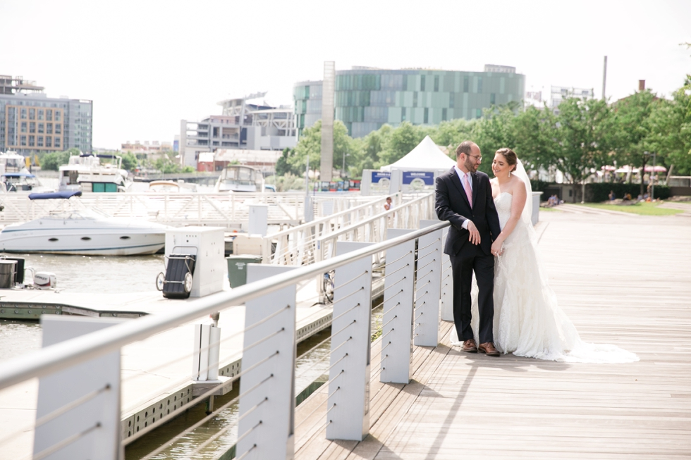 District Winery waterfront wedding photos