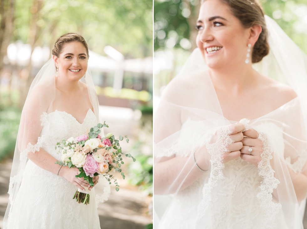 District Winery waterfront wedding bridal portrait