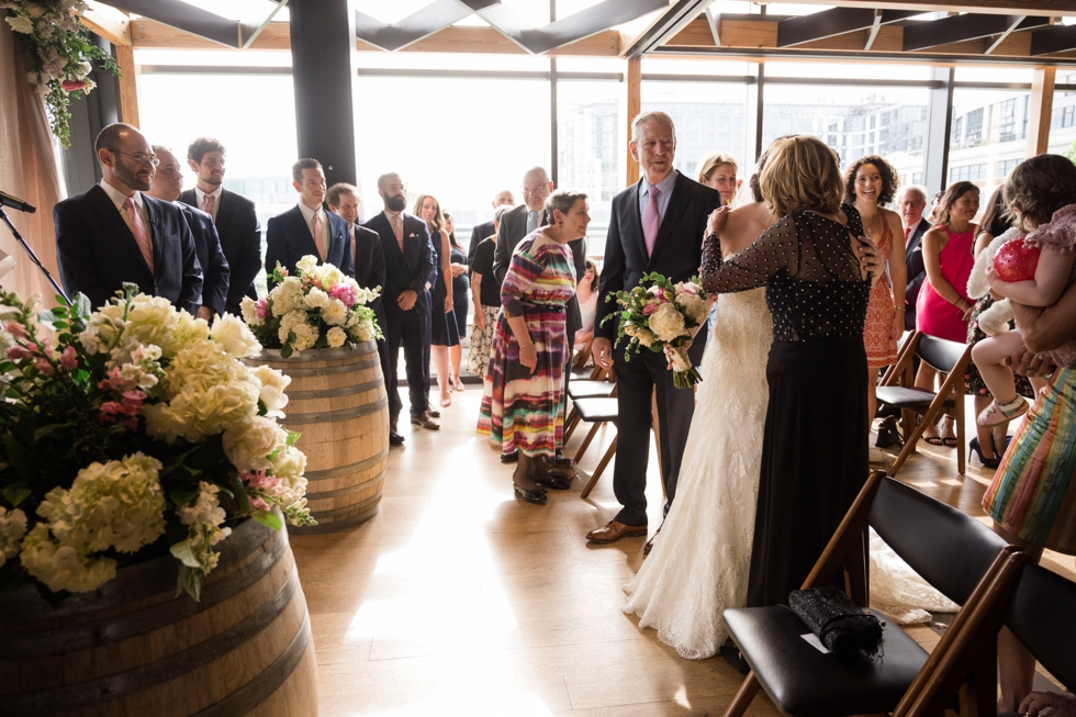 District Winery indoor ceremony