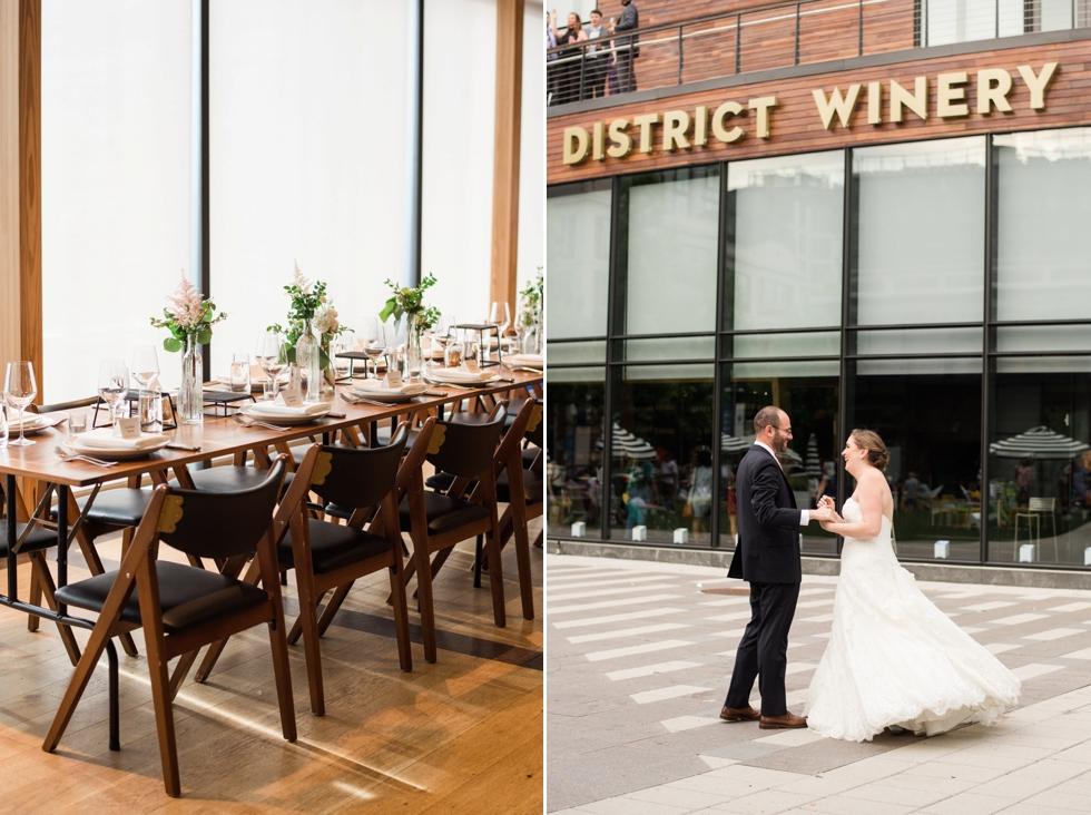 District Winery Wedding decor