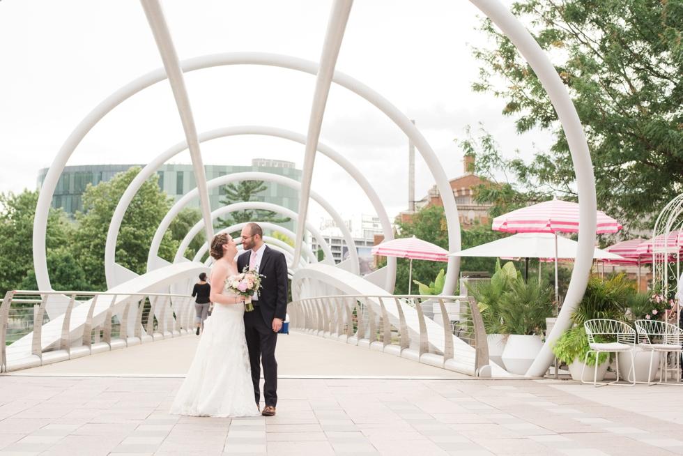 Anacostia riverwalk trail wedding couple