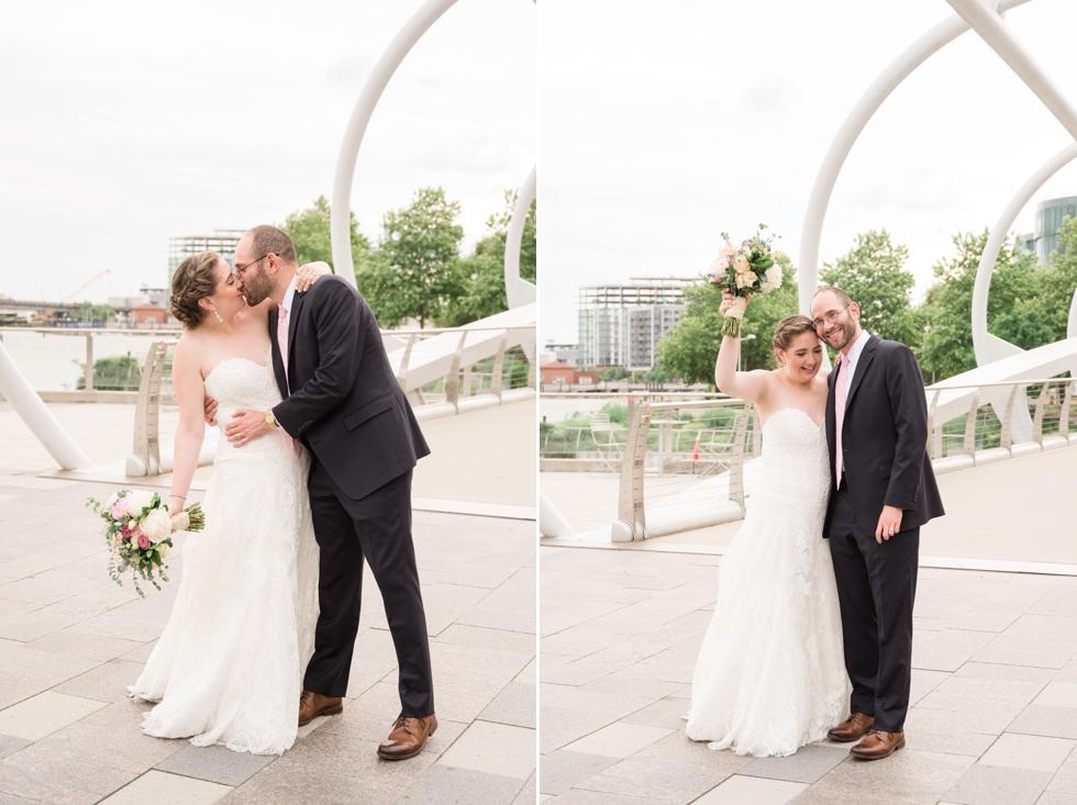 Anacostia riverwalk trail District Winery wedding couple